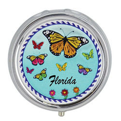 Butterflies Foil Pill Box