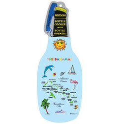 BAHAMAS MAP BOTTLE COOLER