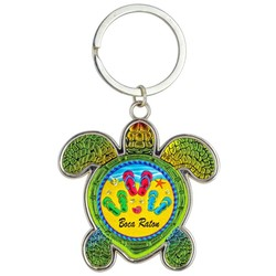 Turtle Foil Key Chain. Flip Flops