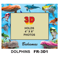 Dolphins 3D PHOTO FRAME