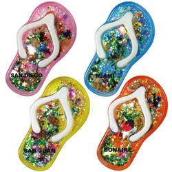 FLIP FLOPS, FLOATING GLITTER MAGNETS