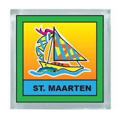 SAILBOAT SQUARE MAGNET