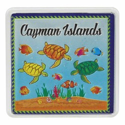 Cayman Islands TURTLES Acrylic Foil Magnets