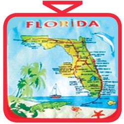 Florida Map Cotton Pot Holder