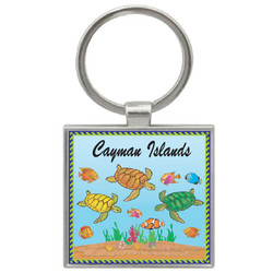 TURTLE SQUARE KEYCHAIN