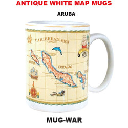 Aruba Antique White Map Mug