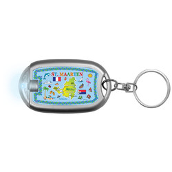 ST. MAARTEN MAP Flaslight Keychain