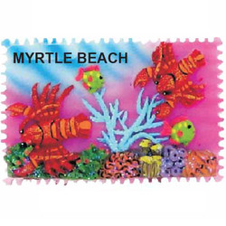 LOBSTER CERAMIC STAMP MAGNET