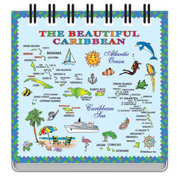 CARIBBEAN MAP NOTEPAD MAGNET