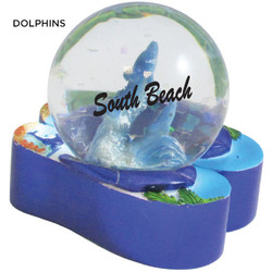 Dolphins Flip Flop Waterglobes