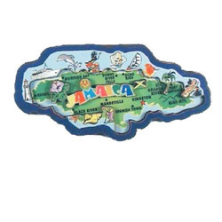 JAMAICA MAP 3D CARVED MAGNET