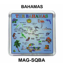 BAHAMAS MAP SQUARE MAGNET