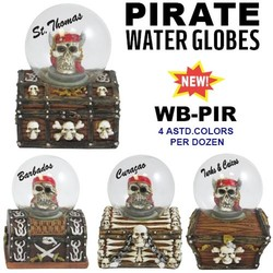 Pirate Water Globes