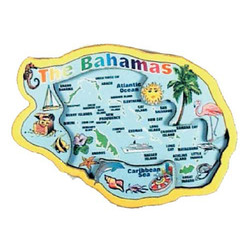 BAHAMAS MAP 3D CARVED MAGNET